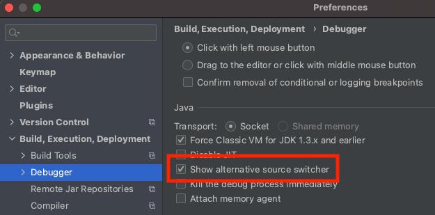 Show alternative source switcher checkbox
