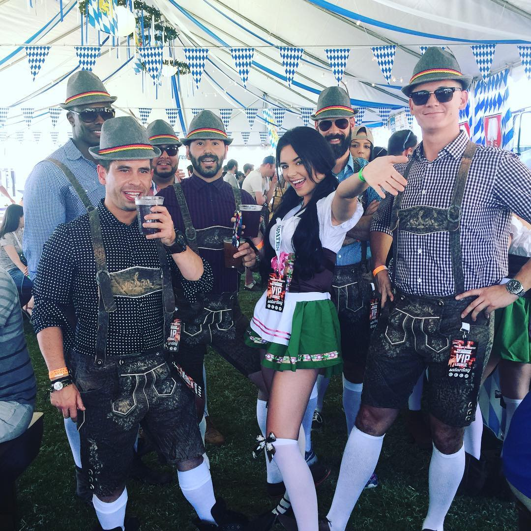 Photo by user tempeoktoberfest, caption reads Prost! #fourpeaksoktoberfest #spaten #fourpeaks #paulaner #VIP #tempe #downtowntempe