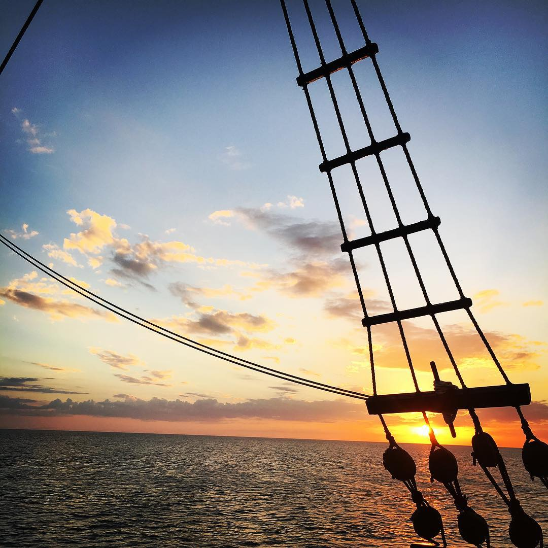 Pirate ship cruise #clearwater #florida #holidays #pirateship #sunset