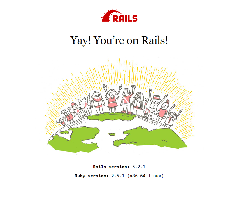 You successfully installed Rails