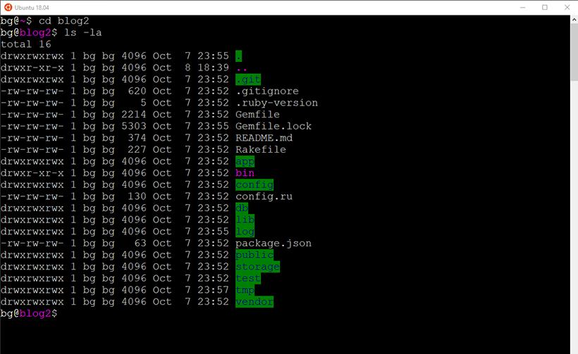 Terminal Output Exmaple