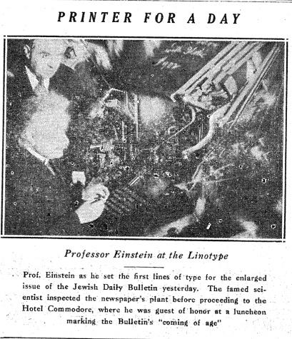 Einstein Sets JTA Linotype