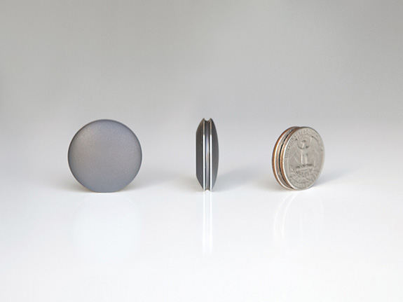 Shine is slightly larger than a quarter