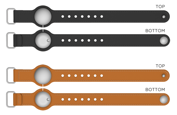 Leather Band - front and back.
