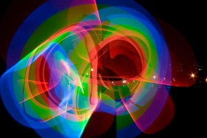 Cold cathode tubes produce psychedelic images.