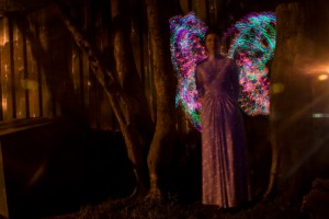 Kirsten Taylor, 29, acquires a pair of fairy wings.