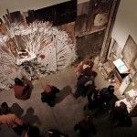 Swoon showed an almost identical piece at Yerba Buena Center for the Arts last spring