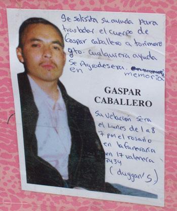 A Paisano's Mission Farewell–Gaspar Caballero