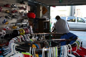 Guzmán's Sports Shop sells primarily soccer equipment.