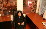 Lorna Dee Cervantes feels right at home in her new office on 24th Street.