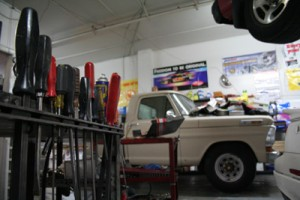 Tools of the trade at Shan Auto.