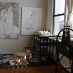 Alex Nichols' studio. Photo by Steve Saldivar