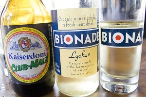 Beer isn't available yet, but Bionade and Malzbeer are.