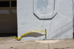 police tape connected to home on 800 block Florida Street