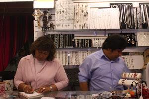 Juanaita Laurel and husband working at Qosqo Maky