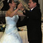 Kimberly Aleman with her father, First dance as a Senorita.