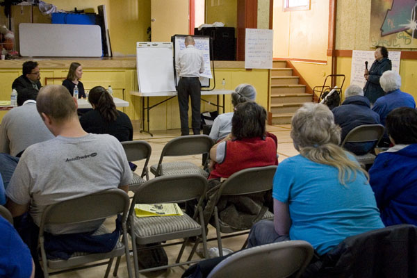 Residents Skeptical About Plans to Rebuild St. Luke's