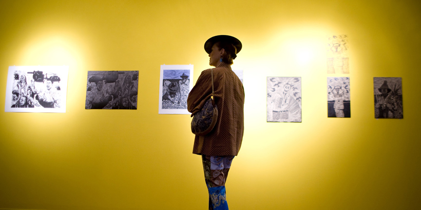Multimedia: Myths, Brick, Prints Exhibit