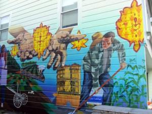 Mural too.