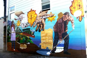 """Old Soil, New Roots-The Mission Pie mural"""""""