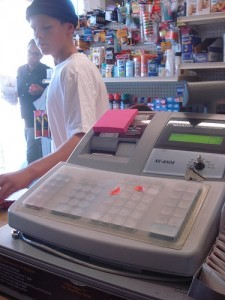 Sam's Market replaced their stolen register with the same model.