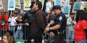 Hotel Workers' Rally Leads to Arrests