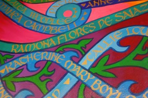 A detail of the new mural.