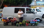 Lidia selling flowers in the Mission.