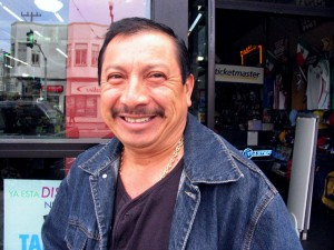 Manuel Ceptina beams after getting a great deal on the latest Tigres Del Norte Album.