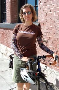 judy b. and her bike