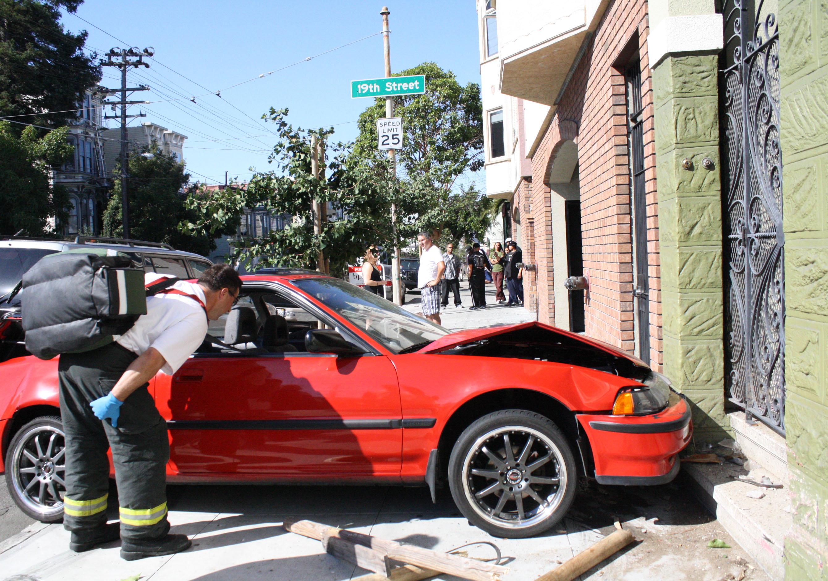 Car Crashes on South Van Ness Street