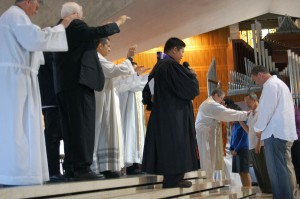 Clergy prayed for elected officials, including three city Supervisors.