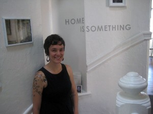 Adrienne Roberts in her Mission home turned gallery.
