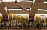 A Volaris plane dive-bombs a bike rack at 24th Street Mission BART. Photo by Armand Emamdjomeh