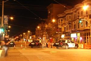 The scene at 16th and Valencia. Photo by Rosa Ramirez.