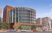 A computer-generated image of what the new hospital will look like upon completion as seen from Potrero Avenue. (Courtesy of San Francisco General Hospital and Trauma Center)