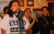 Ana Perez speaks at a press conference for BastaDobbs.org