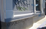 The city of San Francisco requires property owners to remove graffiti.
