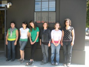 Fink and her staff in front of the new building. Image from SO/EX.