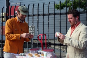 The Amuse Bouche Cart with Murat on the left.