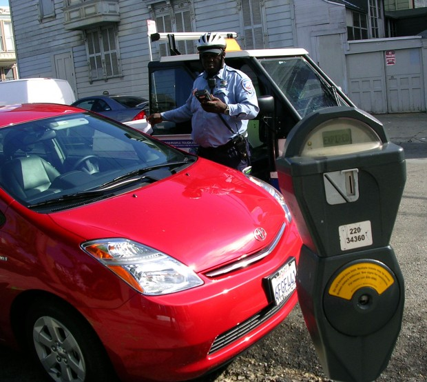 One unlucky parker on 20th and Mission Streets let his meter expire.