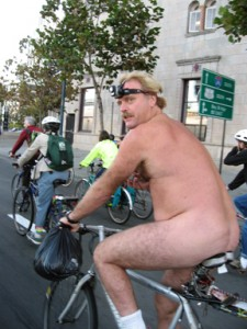 Yes, your birthday suit counts as a costume at Critical Mass