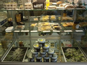 Marijuana food products at Emmalyn's, each individually wrapped and sealed.