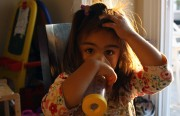 Four-year-old Arianna was diagnosed with Asthma in March.