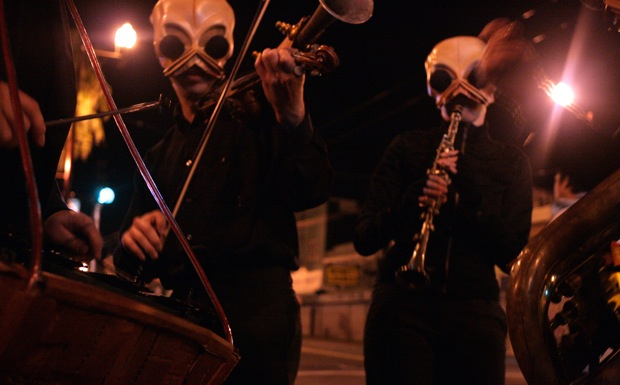 The cantina band roamed the streets all night.