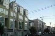 New housing units along Harrison Street.