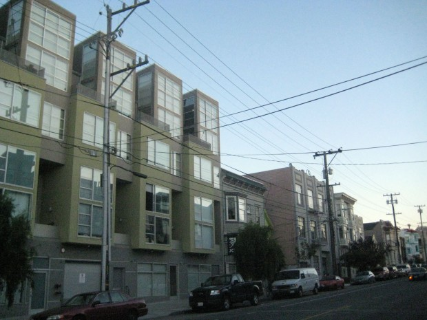 New housing units along Harrison Street.