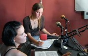 DJs in training at Pirate Cat Radio on Monday.