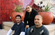 Mission campus student council: Enrique Flores, 42, Patricia Morales, 37, and Brian Melendez, 26.