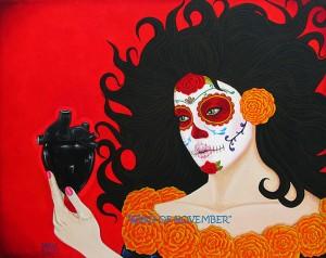 Carlos Villez is one of the artists with work at Galeria de la Raza.